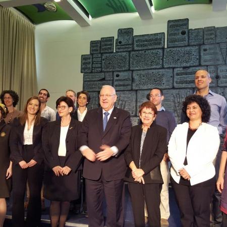 זוכי מלגת הנשיא לשנת 2015, ביניהם מיכל רז רותם